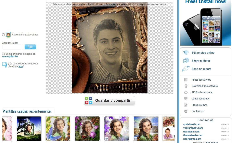 Agregar efectos a fotos on-line 74