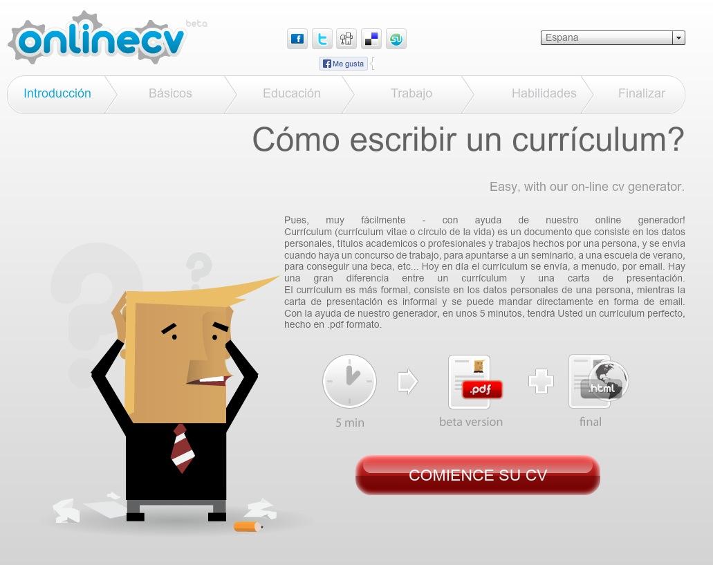 13 recursos online para crear un currículum vitae convencional | Ounae